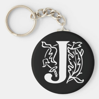 Fancy Letter J Keychain