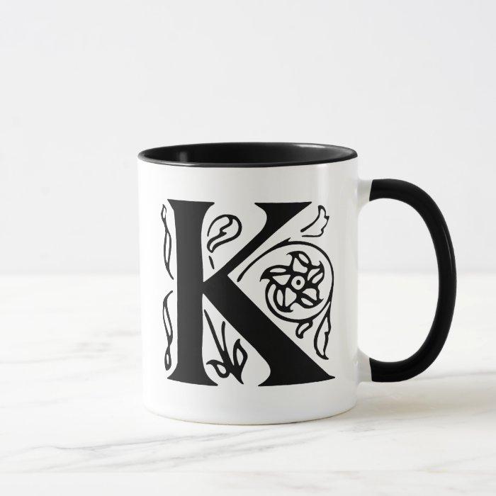 Fancy Letter K Mug
