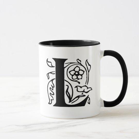 Fancy Letter L Mug