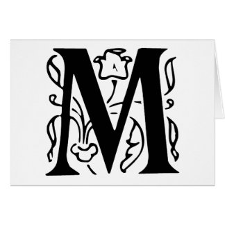 Fancy Letter M Greeting Cards