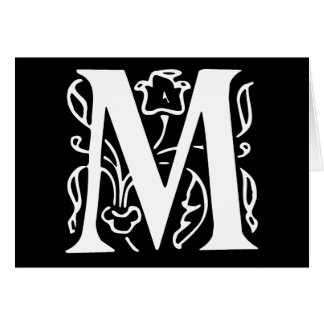 Fancy Letter M Greeting Card