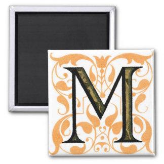 Fancy Letter M - Magnet