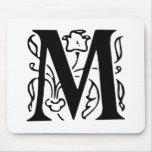 Fancy Letter M Mousepad