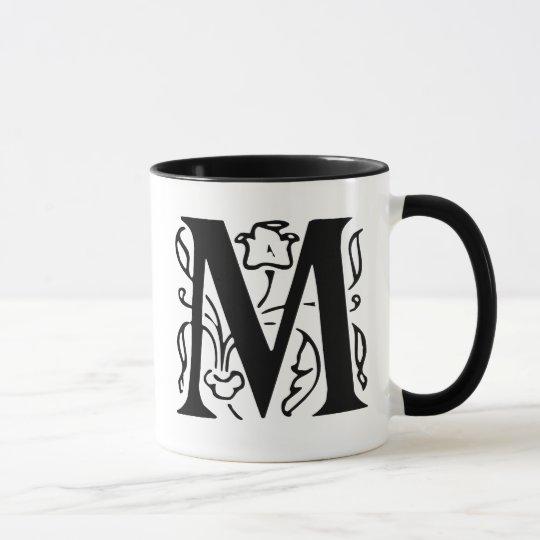 Fancy Letter M Mug