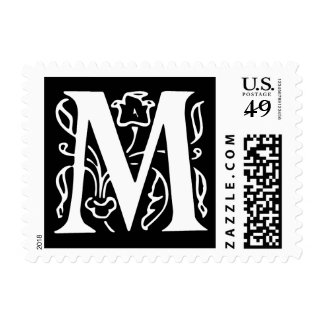 Fancy Letter M Postage