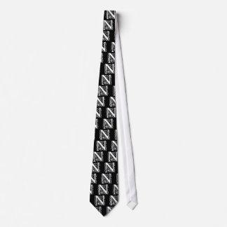 Fancy Letter N Neck Tie
