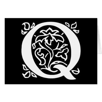Fancy Letter Q Greeting Card