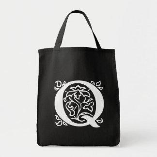 Fancy Letter Q Tote Bag