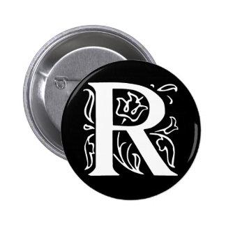 Fancy Letter R 2 Inch Round Button