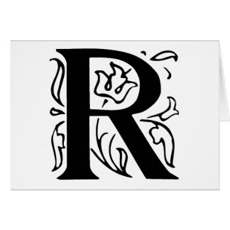 Fancy Letter R Greeting Card
