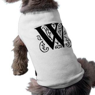 Fancy Letter W Pet T-shirt
