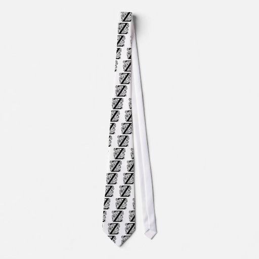 Fancy Letter Z Neck Tie