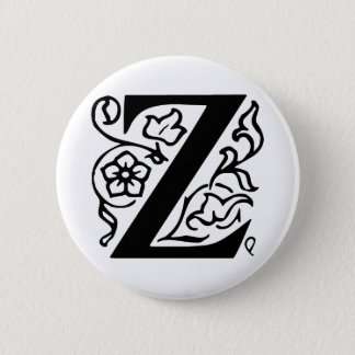Fancy Letter Z Pinback Button