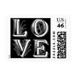 Fancy Letters Love Postage Stamps