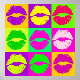 FANCY LIPS,POP ART STYLE POSTER