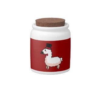 Fancy Llama Cookie Jar Candy Jar