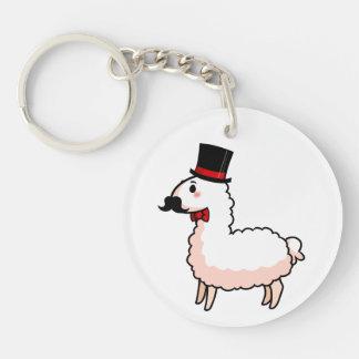 Fancy Llama Double-Sided Round Acrylic Keychain