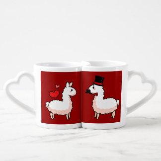 Fancy Llama & Little Llama Coffee Mug Set