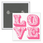 Fancy Love Square Pin