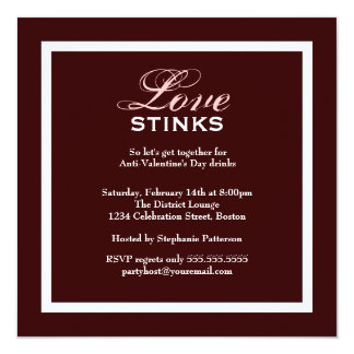 Fancy Love Stinks Anti-Valentines Day Party Card