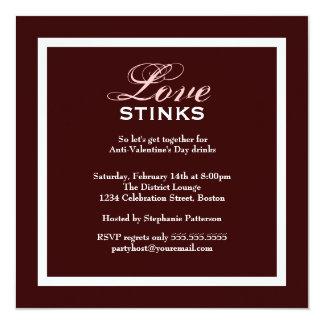 Fancy Love Stinks Anti-Valentines Day Party Invitation