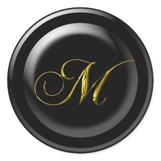 Fancy M Monogram sticker