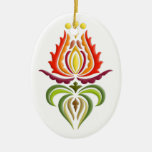 Fancy Mantle Embroidery - Hungarian Folk Art Christmas Tree Ornament