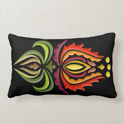 Fancy Mantle Embroidery - Hungarian Folk Art Throw Pillow