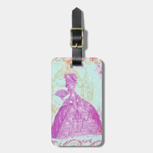 Fancy Marie Antoinette Potpourri Luggage Tag