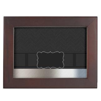 Fancy Metal Texture Monogram Memory Box