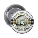 Fancy Metallic Spartan Logo #1 Button