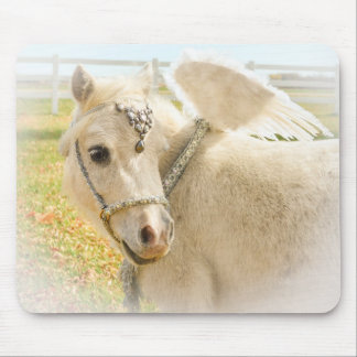 Fancy Miniature Horse with Angel Wings Mouse Pad