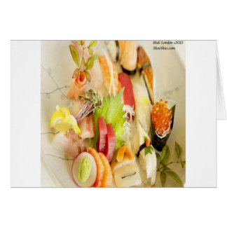Fancy Mixed Fish Gourmet Sushi Plate Card