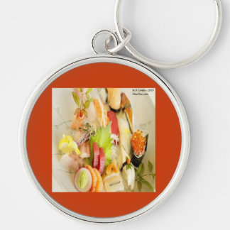 Fancy Mixed Fish Gourmet Sushi Plate Key Chains