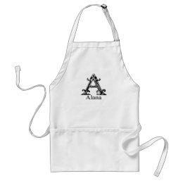 Fancy Monogram: Alana Adult Apron