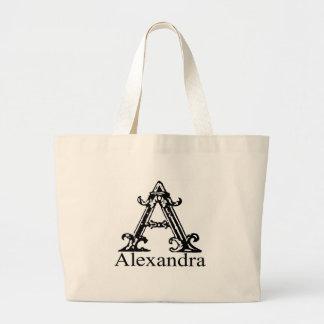 Fancy Monogram: Alexandra Canvas Bags