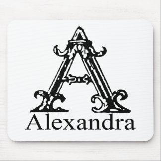 Fancy Monogram: Alexandra Mousepad