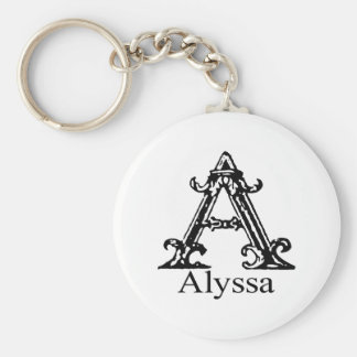 Fancy Monogram: Alyssa Keychain
