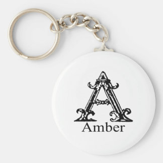 Fancy Monogram: Amber Keychain