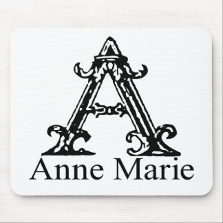 Fancy Monogram: Anne Marie Mouse Pad