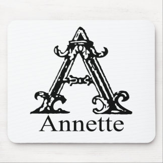 Fancy Monogram: Annette Mouse Pad