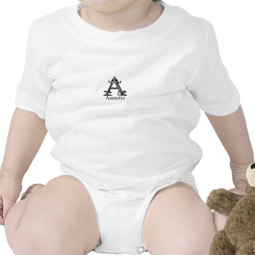 Fancy Monogram: Annette T Shirts