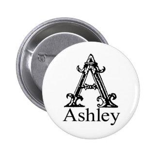 Fancy Monogram: Ashley Pinback Button