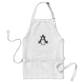 Fancy Monogram: Ava Adult Apron
