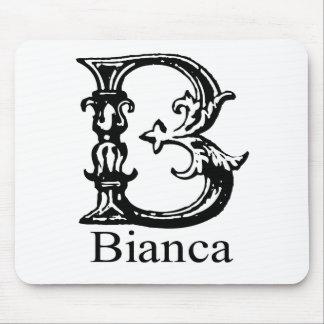 Fancy Monogram: Bianca Mouse Pad