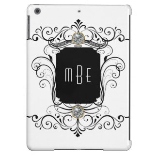 Fancy Monogram Bling Cover For iPad Air