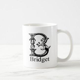 Fancy Monogram: Bridget Coffee Mugs
