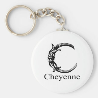 Fancy Monogram: Cheyenne Keychain