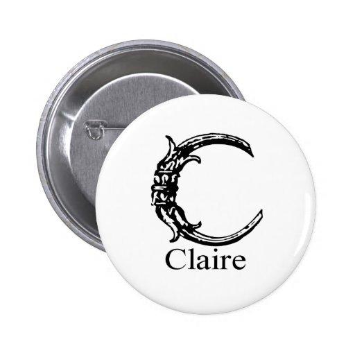 Fancy Monogram: Claire Button