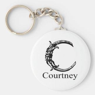 Fancy Monogram: Courtney Keychain